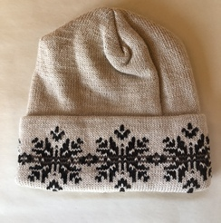 Double knit alpaca hat