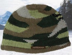 Photo of HATS/BEANIES: CAMOUFLAGE  100% alpaca