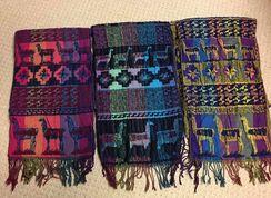 Alpaca-llama themed scarf