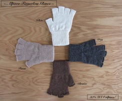 Photo of GLOVES: FINGERLESS 80% alpaca