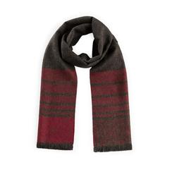 ZigZag Alpaca Scarf - Red/Charcoal