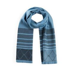 ZigZag Alpaca Scarf - Blue/Denim