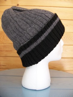 Reversible double knit alpaca hat
