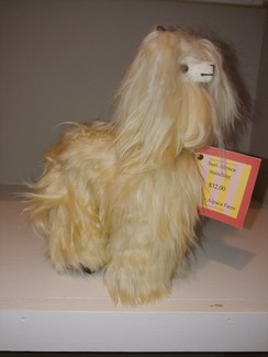 Standing Suri Alpaca Plush