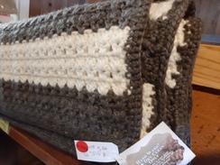 Hand crocheted alpaca blanket