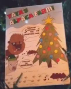 Photo of YaYa's Alpaca Farm Card - Christmas Deck