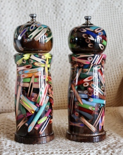 Photo of Colored Pencil Salt and Pepper Mill