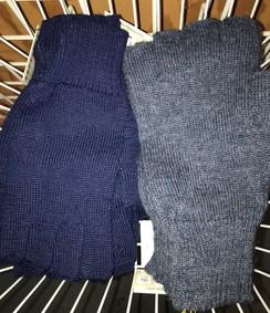 Unisex Alpaca Half Finger Gloves