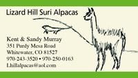Lizard Hill Suri Alpacas - Logo