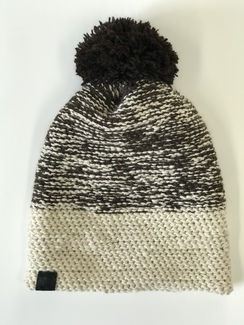 Adult dark brown and fawn beanie