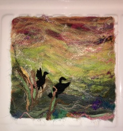 Wall Hanging-Needle Felted- Geese