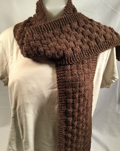 Basket weave scarf - handmade -HMScarf1