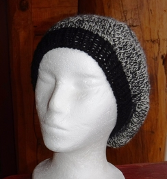 Beret - Barber Pole yarn