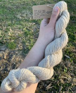 Photo of White Worsted Yarn - 50 Yards