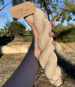 Photo of White Worsted Yarn - 200 Yards
