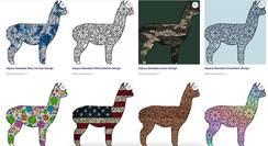Alpaca Mandala Designs 2