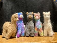 Felted Alpacas