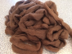 Photo of Roving-natural brown alpaca Fine