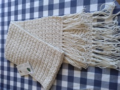 Photo of Crocheted alpaca scarves