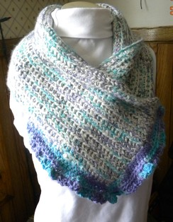 Photo of Alpaca hand crocheted wrap
