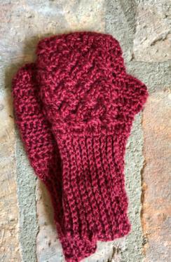 Celtic Cable Fingerless Gloves