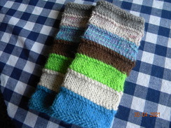 Photo of long length alpaca fingerless gloves