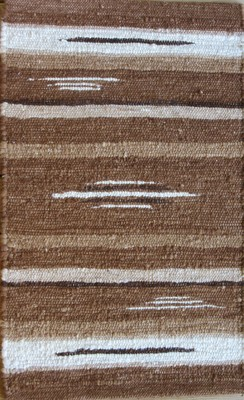 Photo of 100% Alpaca Rug Browns/White 2' x 3'