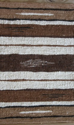 Photo of 100% Alpaca Rug Dk Brown/Black 2' x 3'