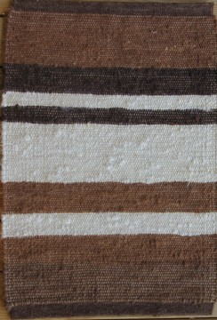 100% Alpaca Rug Brown Stripes 2' x 3'