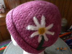 Merino and Mohair felted hat