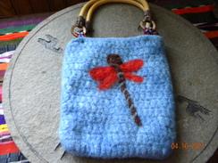 Dragonfly embellished purse