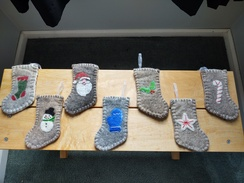 Felted Christmas Stockings - Small