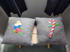 Felted Christmas Pillows