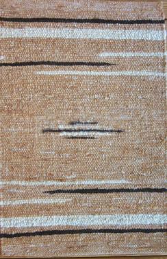 Photo of 100% Alpaca Rug Black Stripes 2' X 3'