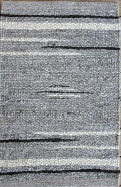 Photo of 100% Alpaca Rug Grey, Black, White 2'X3'