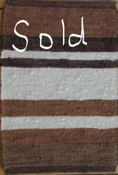 Photo of 100% Alpaca Rug Brown Stripes 2' x 3'