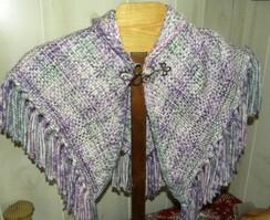 Alpaca and acrylic woven shawl