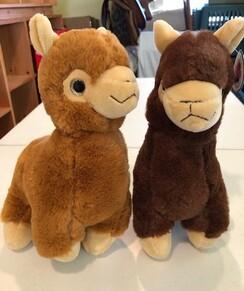 "10"" stuffed alpacas"