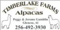 Timberlake Farms Alpacas - Logo