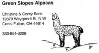 Green Slopes  Alpacas - Logo