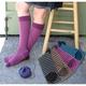 Photo of Socks: Alpacastripe Knee Sock