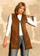 Photo of Reversible Knitted Alpaca Vest