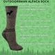 OUTDOORSMAN sock: 80% Alpaca!