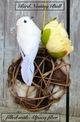 Grapevine bird nesting balls filled with LaCroix Alpacas fiber.