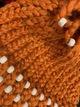 Cute beaded design (orange hat)